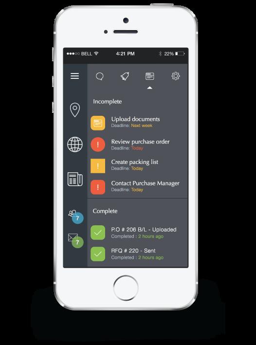 Iphone app user interface.