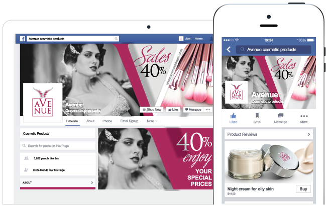 Facebook store sample image