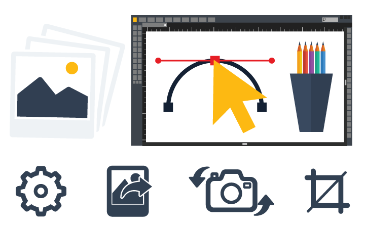 Image being optimized in photoshop to trim out the weight, for faster website.
